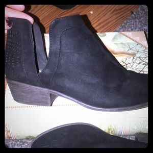 JustFab Black Ankle Boots